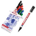 Marcatore permanente 404 - punta extra-fine 0,75mm - 10 x 4 colori: 3 nero, 3 rosso, 2 blu, 2 verde - Edding - conf. 10 pezzi