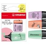 Astuccio 3 Evidenziatori STABILO BOSS Mini Pastellove verde/glicine/rosa