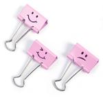 Molle fermacarte - 19 mm - emoji  rosa - Rapesco - conf. 20 pezzi