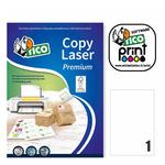 Etichetta adesiva LP4W Tico - bianco - 210x297 mm - 1 etichetta per foglio - conf. 100 fogli A4