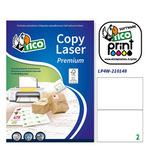 Etichetta adesiva LP4W - permanente - 210x148 mm - 2 etichette per foglio - bianco - Tico - conf. 100 fogli A4