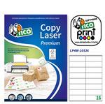 Etichetta adesiva LP4W - permanente - 105x36 mm - 16 etichette per foglio - bianco - Tico - conf. 100 fogli A4
