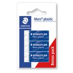 Gomma Mars Plastic - bianca - Staedtler - blister 3 gomme