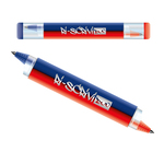 Penna a sfera gel cancellabile 2 in 1 - blu/rosso - Osama