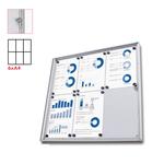 Bacheca per interni Economy - magnetica - 6 fogli A4 - anta battente - Studio T