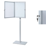 Bacheca per interni con stand - fondo magnetico - 4 fogli A4 - anta battente - Studio T / Jansen