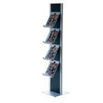 Totem porta brochure - 4 ripiani A4 in metallo - Studio T