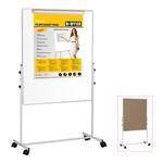 Lavagna Duo a doppia superficie (bianca/sughero) - 100x100 cm - Bi Office