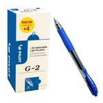 Roller gel a scatto G 2 - punta 0,7mm  - blu - Pilot - conf. 16 + 4 pezzi