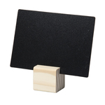 Supporti wood per targhette - 6 targhette incluse - Securit - set 12 pezzi