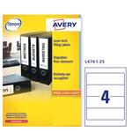 Etichetta adesiva L4761 - permanente - 192x61 mm - 4 etichette per foglio - bianco coprente - Avery - conf. 25 fogli A4