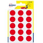 Etichetta adesiva tonda PSA - rosso - ø 19 mm - Avery - blister 90 etichette