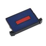 Tampone di ricambio Trodat 6/4750/2 - blu/rosso - blister da 3 pezzi