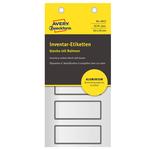 Etichetta per inventario permanenti - rettangolari - 50x20 mm - 5 etichette per foglio - alluminio - Avery - blister da 10 fogli