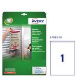 Tasche adesive L7083 - 21x29,7 cm - permanente - A4 - trasparente - Avery - conf. 10 pezzi
