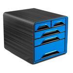 Cassettiera Smoove - 5 cassetti misti - nero/blu oceano - CEP