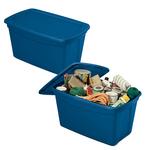 Contenitore multiuso ToteBox - 82,4x50,5x44 cm - blu - Terry