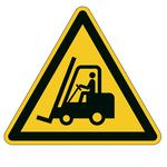 Pittogramma adesivo da terra - Attenzione passaggio carrelli - lato 43 cm - Durable