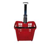 Cesto trolley - 30 litri - antiurto - rosso - Printex