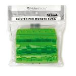 Portamonete - PVC - 50 cent - verde - HolenBecky - blister 20 pezzi