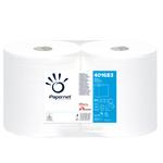Bobina asciugatutto - 2 veli - goffratura a onda -  diametro 22,4 cm - 21 gr - 23,4 cm x 137 mt - bianco - Papernet