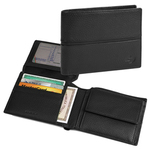 Portafoglio/portamonete - pelle - nero - Niji