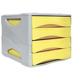 Cassettiera Keep Colour Pastel - 25x32 cm - cassetti 5 cm - grigio/giallo - Arda