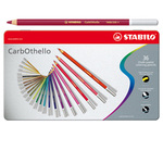 Stabilo Carb0thello Carboncino - tratto 4,40mm - scatola in metallo - Stabilo - astuccio 36 colori
