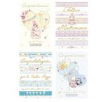 Biglietto Matrimonio - c/rifiniture - oro - Kartos