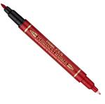 Marcatore permanente Twin tip - doppia punta fine-extra fine - rosso - Pentel