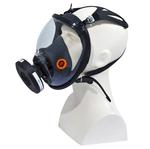 Maschera completa M9300 Strap Galaxy - policarbonato/silicone - nero/arancio - Deltaplus