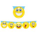 Festone sagomato - emoticons - 6mt - Big Party