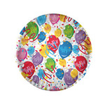 Piatti carta plastificata - Balloons Ø18cm -  10 pezzi - Big Party