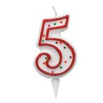 Candelina Zuccherino - numero 5 - h.8.5cm - Big  party