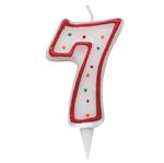 Candelina Zuccherino - numero 7 - h.8.5cm - Big  party
