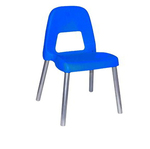 Sedia per bambini Piuma - altezza 31 cm - blu - CWR