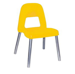 Sedia per bambini Piuma - H 35 cm - giallo - CWR