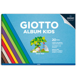 Album Kids Carta Carta colorata 2+ - A4 - 120gr - 20 fogli - Giotto