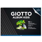 Album Kids cartoncino cartoncino nero 5+ - A4 - 220gr - 10 pezzi - Giotto