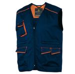 Gilet da lavoro Panostyle® M6GIL - sargia/poliestere/cotone - taglia M - blu/arancio - Delta Plus