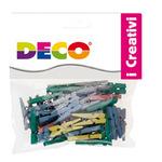 Mollettine mini - in legno - colori pastello - 25mm  - CWR - Conf. 45 pezzi