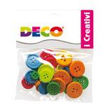 Bottoni - in legno - colori neon - CWR - Conf. 30 pezzi