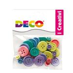 Bottoni - in legno - colori pastello - CWR - Conf. 30 pezzi