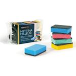 Spugna nettina Milleusi - 11x6,5x3 cm - doppio strato - colori assortiti - Perfetto - conf. 5 pezzi