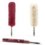 Piumino magnete - attira polvere - diametro 5 cm - altezza 65 cm - rosso - Perfetto