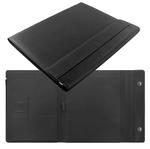 Portablocco Saffiano - similpelle - 32,1x25,5x3cm - chiusura magnetica - nero - Filofax