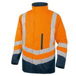 Parka 4 in 1 Optimun 2 alta visibilità - poliestere/poliuretano - taglia XL - arancio fluo - Deltaplus