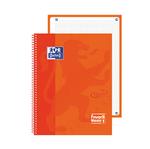 Quaderno spiralato Neon 1 - A4+ - quadretti 5 mm - 90 gr - arancione fluo - Oxford