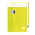 Quaderno spiralato Neon 1 - A4+ - quadretti 5 mm - 90 gr - giallo fluo - Oxford