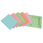 Cartella 3L con elastico P@stel  - PPL - 24x33cm - colori assortiti - Favorit